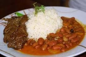 Bandera dominicana comida